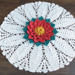 Crochet Doily With Beautiful Flower