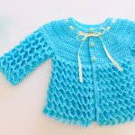 How To Crochet Honeycomb Stitch Baby Jacket