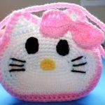 Crochet Hello Kitty Purse For Little Girl