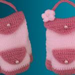 Crochet Backpack With Kangaroo Wallet