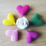 Crochet Decorative Heart Amigurami