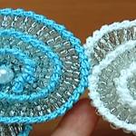 Crochet Spiral Flower With Beads