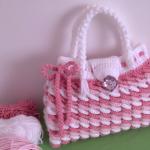 Crochet Colorful 3 D Handbag