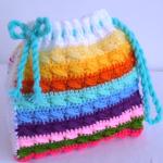 Crochet Double Colored 3D Handbag