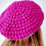 Crochet Bobble Stitch Beret Hat