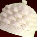 Crochet Marshmallow Stitch Beret Hat