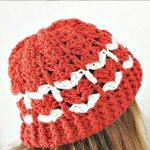 Crochet Heart Stitch Lovely Hat