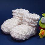 Crochet Newborn Baby Boots