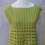 Crochet Short Sleeve Blouse For Women