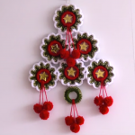 Crochet Christmas Tree For Decor With Rings