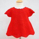 Crochet Baby Girl Dress For Christmas