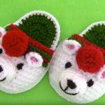 Crochet Polar Bear Slippers For Christmas