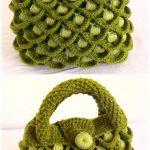 Crochet Peacock Feather Stitch Handbag