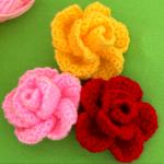 Crochet 3 D Spring Flower