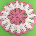 Crochet Lovely Doily With A Big Flower