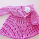 Crochet Fast And Easy Coat For A Baby Girl