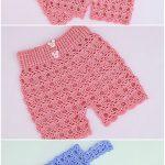 Crochet Easy T-shirt And Shorts Set