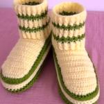 Crochet Elastic Stitch Slippers For Adults