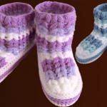 Crochet Slippers For Adults With Braids