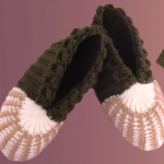 Crochet 3 D Slippers For Adults