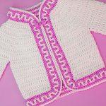 Crochet Mosaic Stitch Jacket For Baby