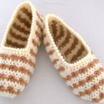 Crochet Two Colored Slippers