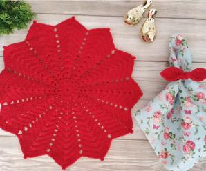 Crochet A Festive Doily Video Tutorial