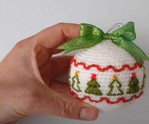 Crochet Beautiful Christmas Ball