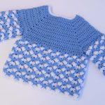 Crochet Lovely Sweater For Baby