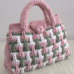 Crochet 3 D Bag In 3 Colors