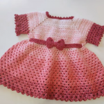 Crochet Beautiful Dress For A Baby Girl