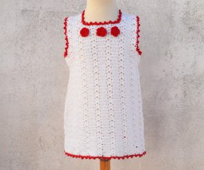 Crochet Simple Summer Dress For Girls