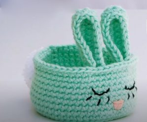 Crochet A Bunny Basket For Easter
