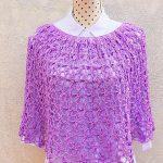 Crochet Flower Stitch Poncho For Women