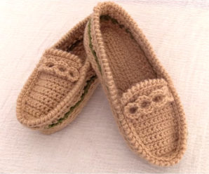 Crochet Easy Loafer Slippers