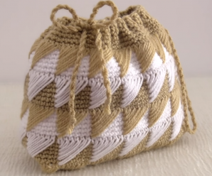 Crochet Diamond Curtain Purse Bag