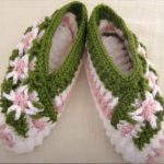 Crochet Magic Star Flower Stitch Slippers For Adults