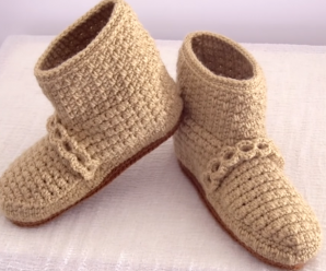 Crochet Lovely Slippers For Adults