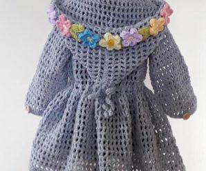 Crochet Spring/Summer Hoodie For Girls