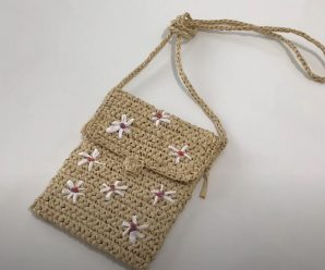 Crochet A Handbag With Flowers