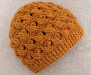 Crochet Crisscross Stitch Hat