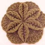 Crochet Flower Ornament With Leaves