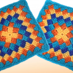 Crochet Colorful Granny Square For Blankets