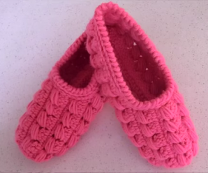 Crochet Adult Size Slippers