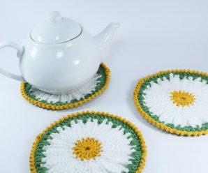 Crochet Beautiful Daisy Coaster