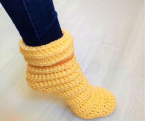 Crochet Fast And Simple Slippers