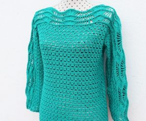 Crochet Easy Sweater Blouse